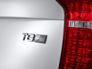 The top of the range Twin Engine version of the all-new Volvo XC90 carries the T8 badge on the tailgate.